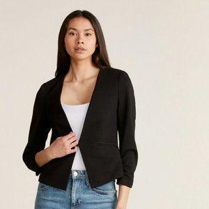 Amanda + Chelsea Black Blazer Jacket EUC Size S